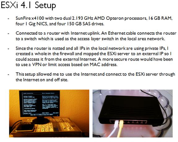 VMware ESXi 4.1 Setup