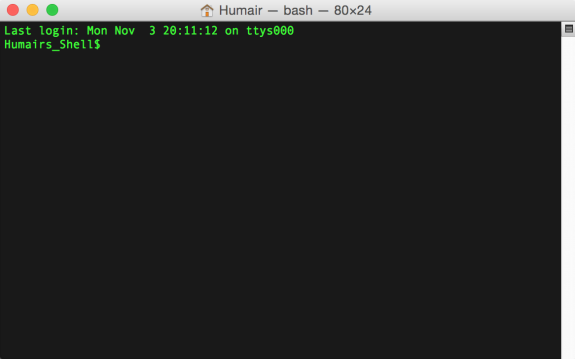 Customized Mac Terminal Shell Prompt in OS X Yosemite