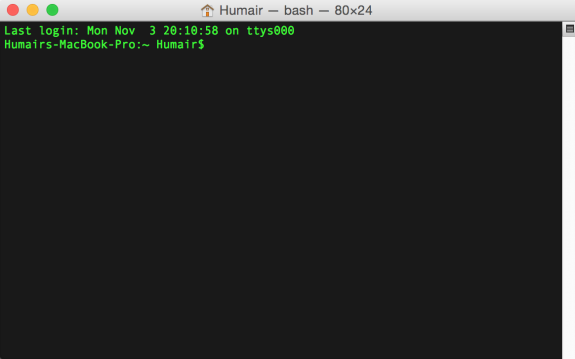 Humair's Blogs » Blog Archive » Customize the Mac Terminal