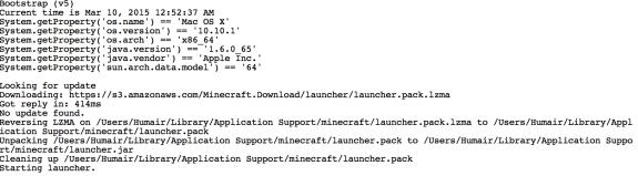 Minecraft loading on Mac OS X